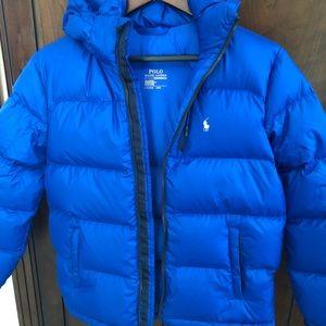 NWOT BLUE gorgeous Polo Ralph Lauren puffer